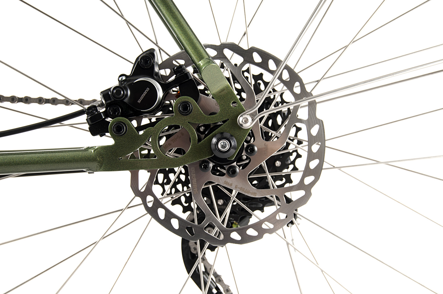 Omnium Mini-Max Sideview of the cassette and rear break